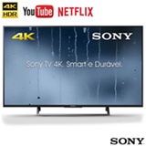 "Smart TV 4K Sony LED 49"", 4K HDR, 4K X-Reality Pro, Dolby Digital Plus e Wi-Fi - KD-49X705E"
