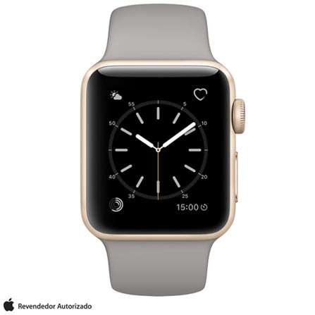 ac9f19fcc90 Apple Watch Series 2 Dourado com Pulseira Esportiva Cinza-Concreto ...