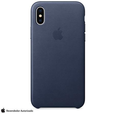 Capa para iPhone X de Couro Azul Meia-noite - Apple - MQTC2ZM A 74e6863b3e