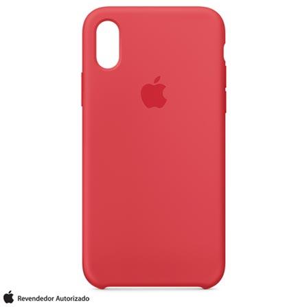 77fbc2a472 Capa para iPhone X de Silicone Vermelho Amora - Apple - MRG12ZM A