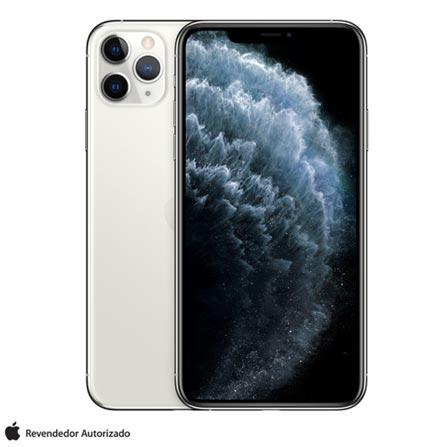 """Menor preço em iPhone 11 Pro Max Prata, com Tela de 6,5"""", 4G, 256 GB e Câmera de 12 MP - MWHK2BZ/A"""