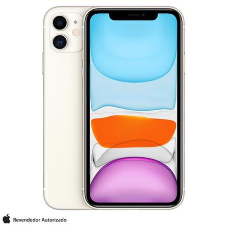 """Menor preço em iPhone 11 Branco com Tela de 6,1"""", 4G, 128 GB e Câmera 12 MP - MWM22BR/A"""