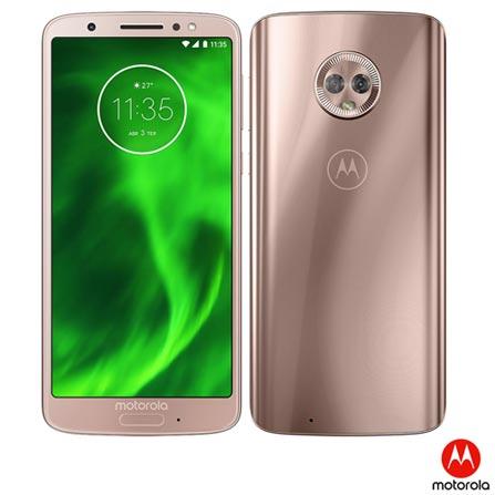 5ff347f52a Moto G6 Ouro Rosê Motorola com Tela de 5