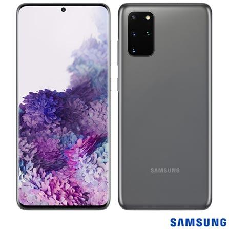 """Menor preço em Samsung Galaxy S20+ Cinza, com Tela Infinita de 6,7"""", 4G, 128GB e Câmera Quádrupla 64MP+12MP+12MP+ToF - SM-G985FZAJZTO"""
