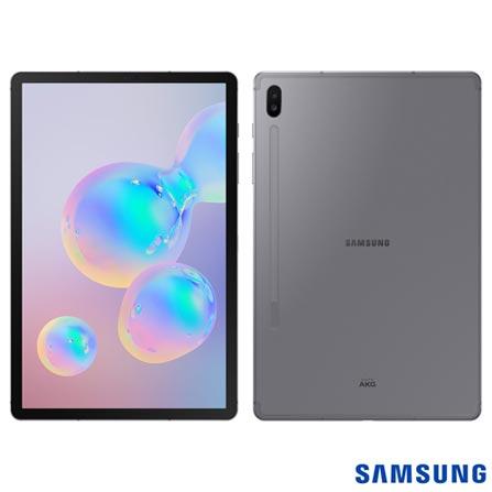 """Menor preço em Tablet Samsung Galaxy Tab S6 Preto com 10,5"""", 4G, Android 9.0, Processador Octa-Core 2.8 GHz e 128GB - SM-T865LZAMZTO"""