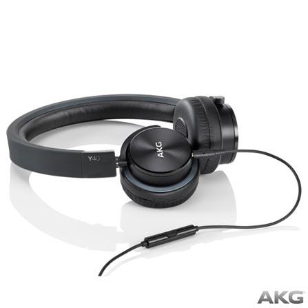 d9ec7384428 Fone de Ouvido AKG On Ear Stereo Preto - Y40BLK