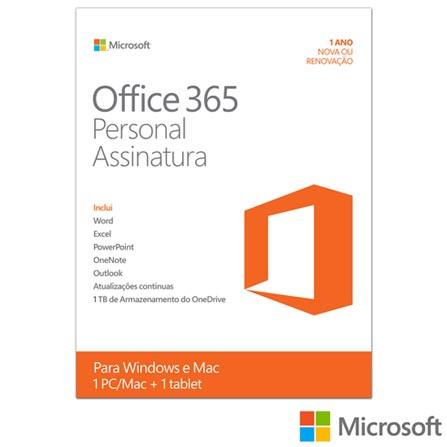 37df2fded Microsoft Office 365 Personal com 01 ano de Assinatura para PC