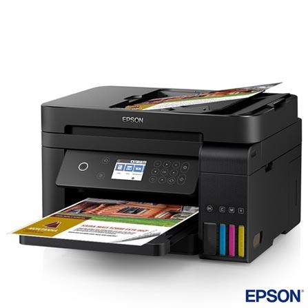 Menor preço em Impressora Multifuncional Epson Eco Tank Jato de Tinta com USB e Wi-Fi - L6171