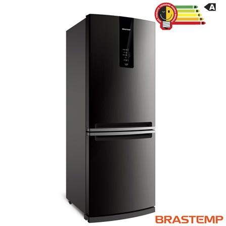Menor preço em Refrigerador de 02 Portas Brastemp Frost Free com 443 Litros com Freezer Invertido Cor Inox - BRE57AK