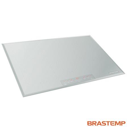 Menor preço em Cooktop de Indução 04 Bocas Brastemp com Acendimento Automático, Painel Touch Vitreous Branco - GDJ77AB
