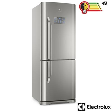 Menor preço em Refrigerador Bottom Freezer Electrolux de 02 Portas Frost Free com 454 Litros Painel Eletrônico Inox - DB53X