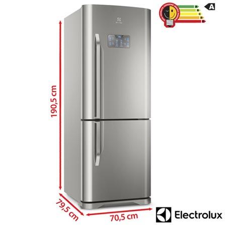 393e6f218 Refrigerador Bottom Freezer Electrolux de 02 Portas Frost Free com 454  Litros Painel Eletrônico Inox - DB53X