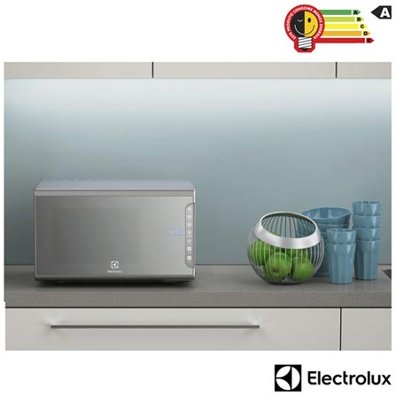 1ce6ff95e Microondas Electrolux com 31 Litros de Capacidade Prata - MI41S