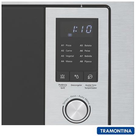 1486d9fd4 Micro-ondas de Embutir Tramontina Inox 60 com 25 Litros de Capacidade e  Grill Inox - 94880