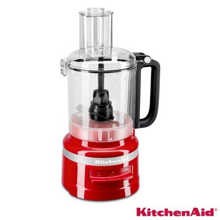 Menor preço em Processador de Alimentos KitchenAid Empire Red com 03 Velocidades, Capacidade 2,1 Litros e Múltiplas Funções - KJA09BV