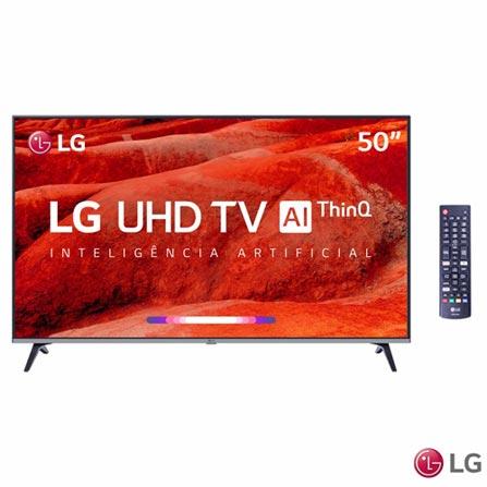 """Menor preço em Smart TV 4K LG LED 50"""" com Inteligência Artificial, Upscaler 4K, WebOS 4.5, 4K HRD Ativo e Wi-Fi - 50UM7510PSB"""