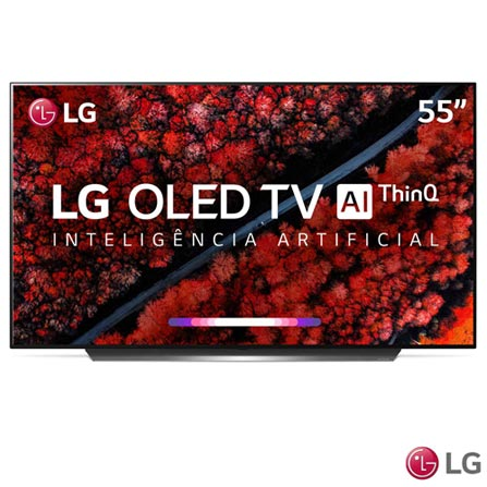 "Menor preço em Smart TV 4K LG OLED AI 55"" Ultra HD com Contraste Infinito, 4K Cinema, WebOS 4.5 e Wi-Fi - OLED55C9PSA"