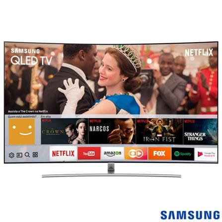 """8010836dc Smart TV Samsung QLED 4K 75"""" com Modo Jogo"""