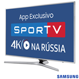 "Smart TV 4K Samsung LED 65"" com Processador Quad Core, Connect Share™, Digital Clean View e Wi-Fi - UN65MU6400GXZD"